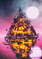scifi retro dark cool fantasy smoke clouds fog moon planet space stars dystopian