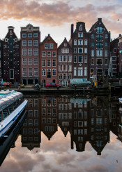 reflection amsterdam city canal travel