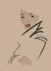 fashion fashionportrait portrait fashionillustration fashionart style minimalism beauty gruau brushstrokes