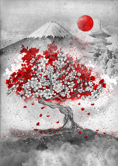 Marine Loup Japan in my dreams   Displate Prints on Steel