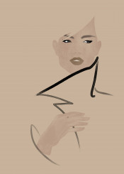 fashion fashionportrait portrait fashionart fashionillustration gruau minimal style beauty chic paris