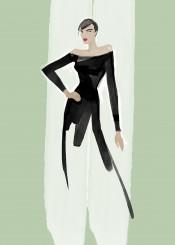fashion fashionart fashionillustration fashionsketch blackdress minimal mode style beauty