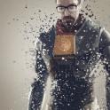 Gordon Freeman. Splatter effect artwork inspired by the Half Life universe.