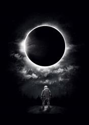 moon sun cosmic astronaut surreal stars lovers woods nature