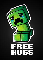 game videogame gamer funny creeper free hugs joke sad cry explosion tnt playstation pc cute chibi