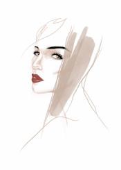 fashion fashionportrait portrait woman female style beauty hairstyle minimal fashionillustration fashionart