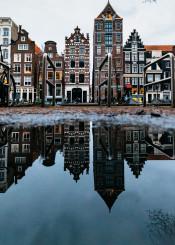 amsterdam netherlands dutch reflection architecture buildings
