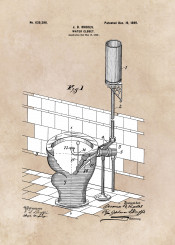patent patents art arts home decor decortaion bath bathroom water closet