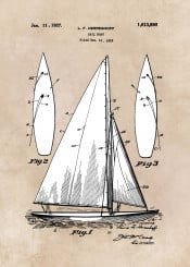 patent patents art sail boat boats marines home decor decoration sea