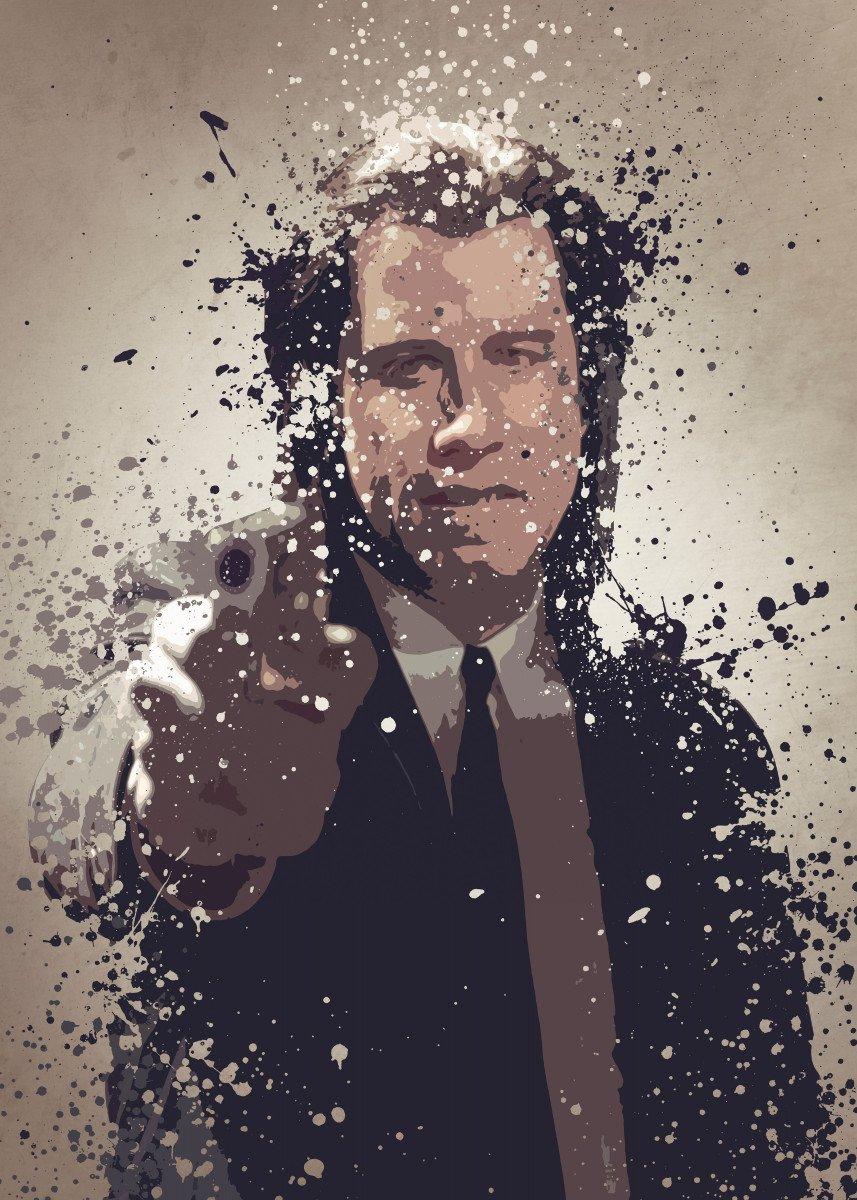 Vincent Vega. Splatter effect artwork inspired by the Pulp Fiction uni 276341