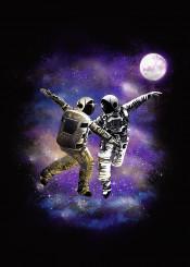 moon space cosmic astronaut universe stars