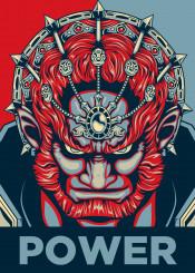 ganon ganondorf power triforce zelda link red blue boss evil