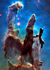 eagle nebula hst jpl nasa space