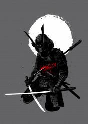 samurai katana japan japanese temple blood war fight anime manga