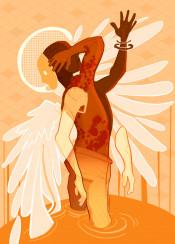 surreal surrealism angel fantasy original unique digital drawing weird strange inspiration creative creativity conceptart conceptual wings color colorful orange personalities creatures whimsical illustration