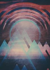 landscape abstract digital design illustration