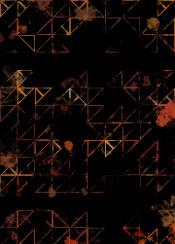 triangle geometric geometry brown red dirty