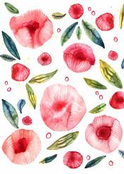 peony peonies flowers watercolor painting art design illustration botanical nicsquirrell