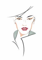 fashion fashionportrait portrait fashionillustration woman face beauty style minimal simple
