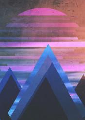 landscape digital illustration dsign abstract
