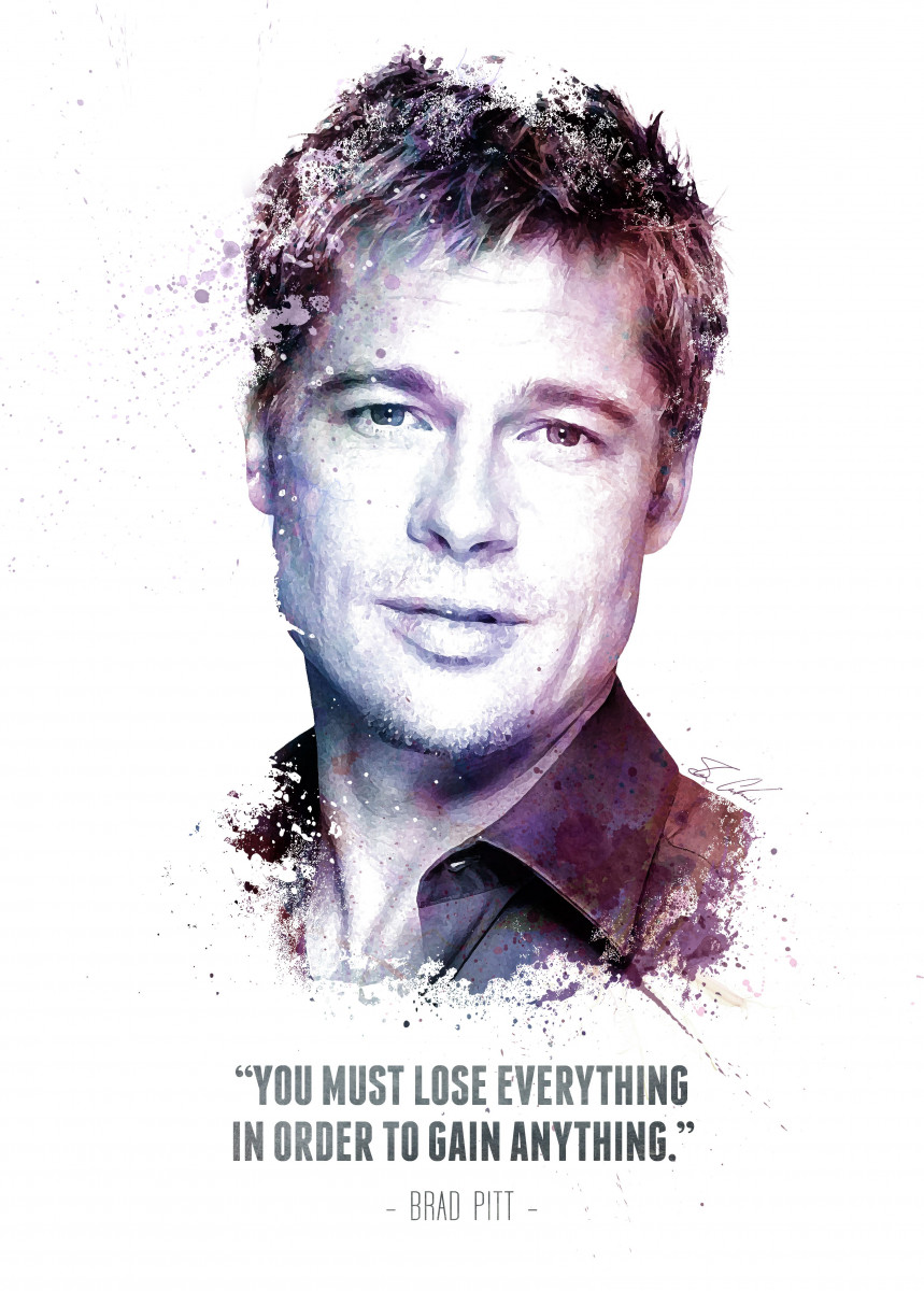 The Legendary Brad Pitt and his quote. 282697