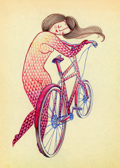 Magic Suitcase Bikes and Cycling   Displate Prints on Steel