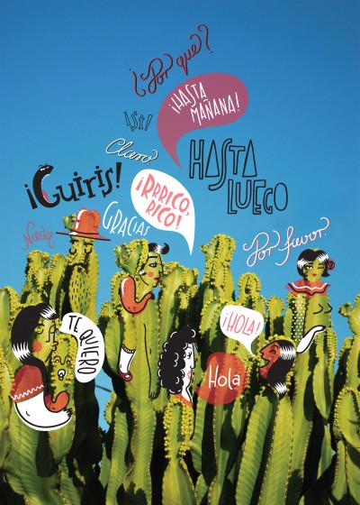 Magic Suitcase Spanish Moods   Displate Prints on Steel