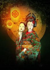 bunraku theater mask