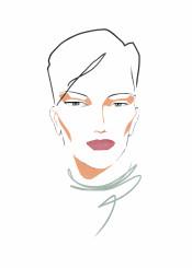 fashion fashionportrait portrait style beauty minimal gruau fashionart fashiondesigner simple chic fashionillustration