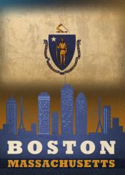 boston city skyline massachusetts