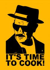 timetocook walterwhite breakingbad tvseries illustration displates yellow black