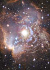 painting watercolor digital space stars nebula universe galaxy black dark lilac purple