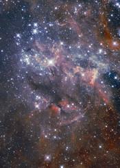painting watercolor digital space universe galaxy stars nebula blue navy brown