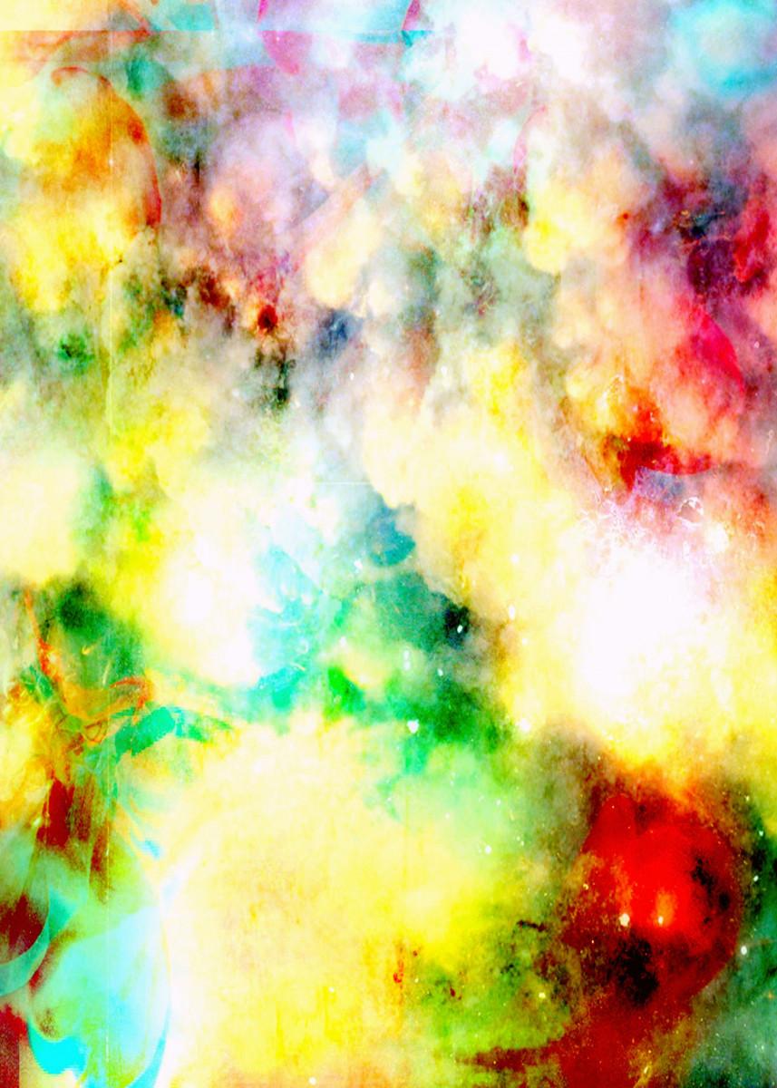 Fume Color Splash 01 by Aloke Design | metal posters - Displate