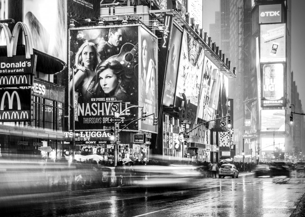A rainy night in Times Square, New York City. 288322
