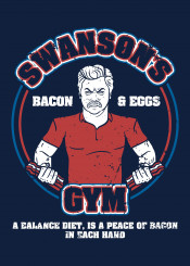 swanson ron ronswanson gym bacon eggs funny