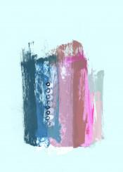 painting abstract abstractpainting brushstroke blue modern stroke acrylic piaschneider wallart modernart