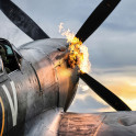 Spitfire TE311 of the RAF Battle of Britain Memorial Flight during a hot start.