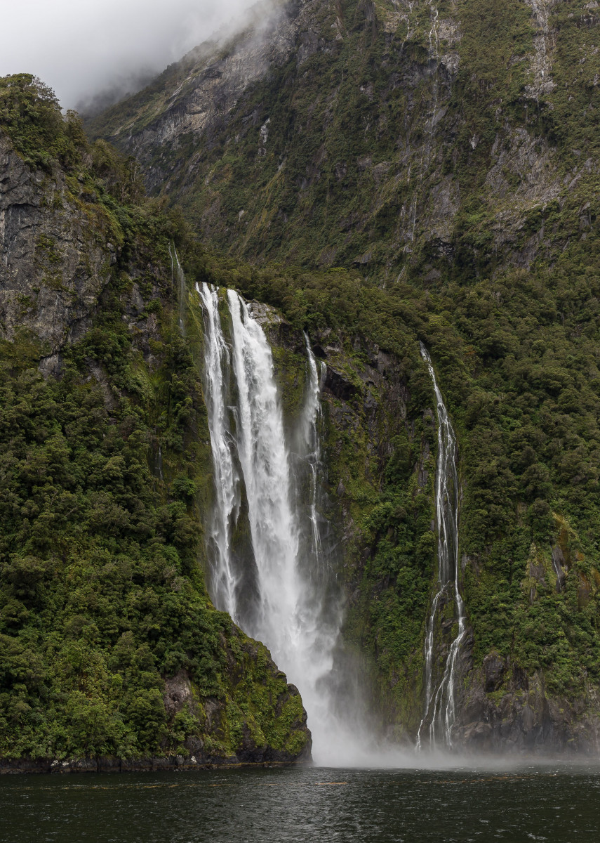 Fall of good luck, Milford sound, Fjordland, New Zealand