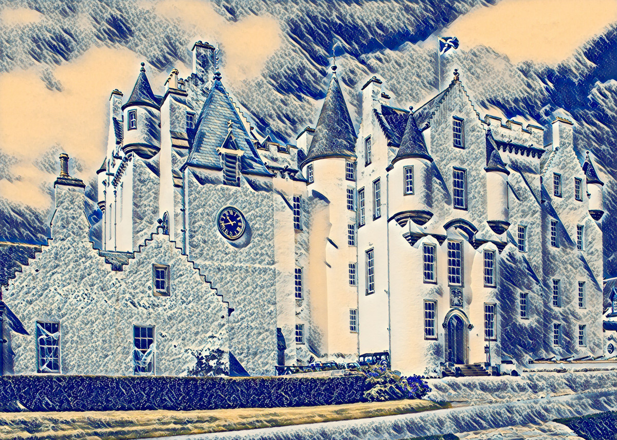 Blair Castle in Scotland built circa 1269