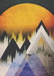 abstract landscape digital illustration design