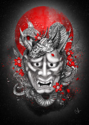 hannya mask dragon