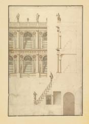 vintage architecture ornaments bluprints