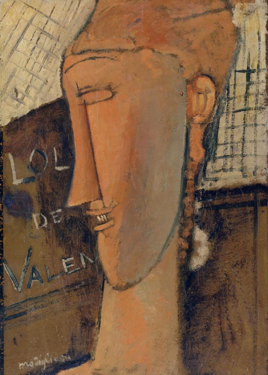 Amadeo Modigliani - Lola de Valence, 1915, oil on canvas; Collection o 292500