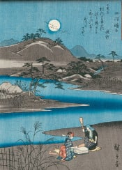 asian nature landscape river vintage