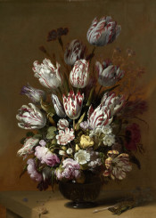 classic classical flowers oil painting