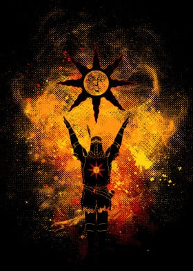 darksouls dark souls praise sun praisethesun illustration colors trendy best posters darksoulsposter solarius gaming games videogames video geek nerd color incandescant