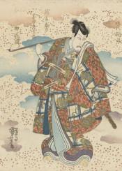 vintage graphic asia japan samurai warrior