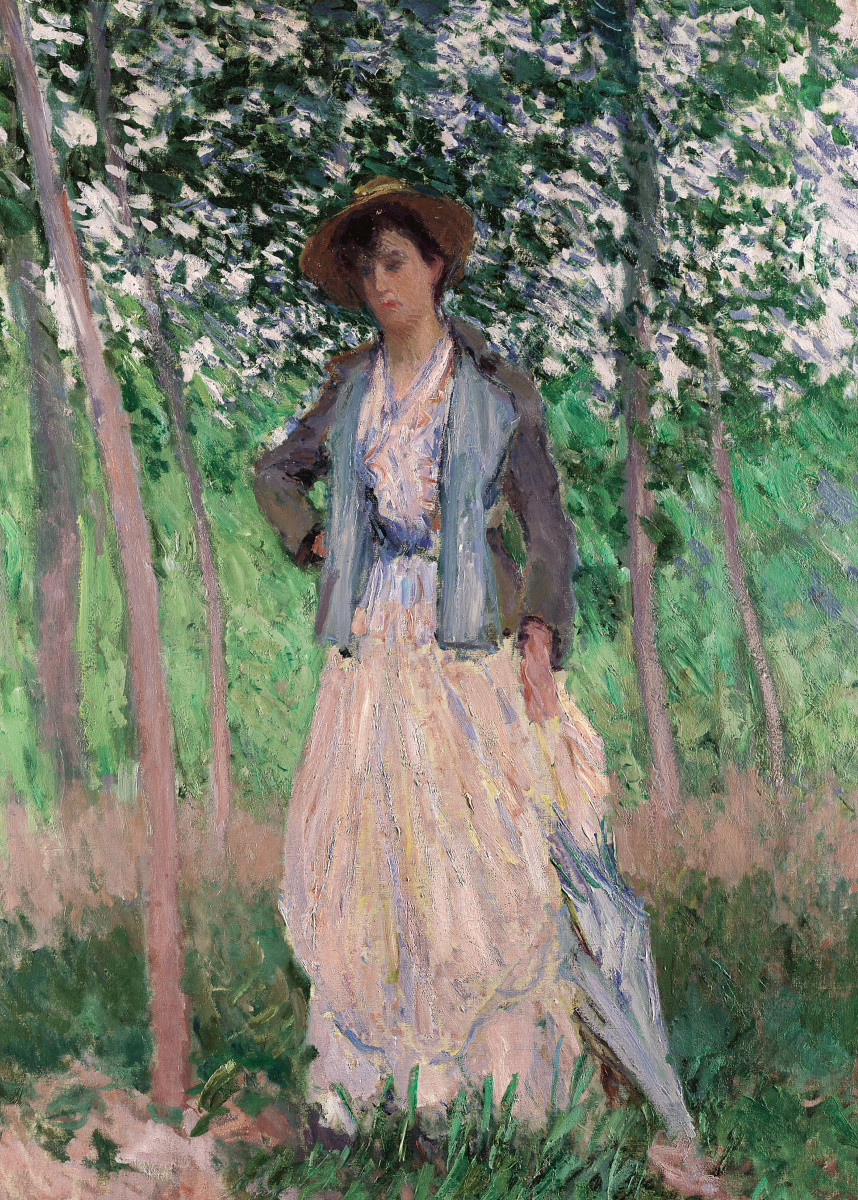 Claude Monet - The Stroller (Suzanne Hoschedé, later Mr. 293065