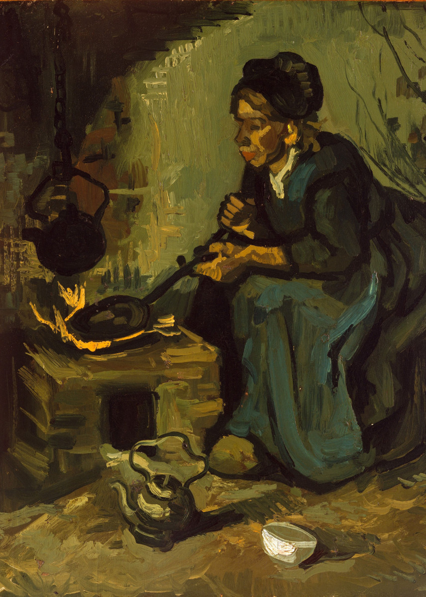 Vincent van Gogh - Peasant Woman Cooking by a Fireplace. 292871